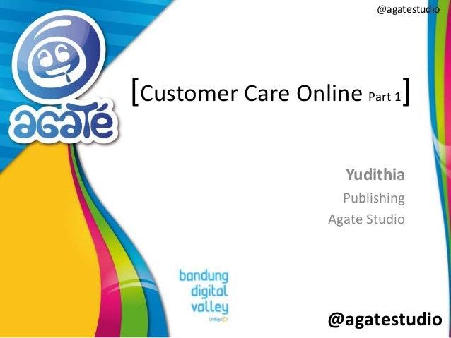 @agatestudio @agatestudio [Customer Care Online Part 1] Yudithia Publishing Agate Studio