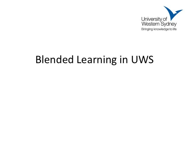 Blended Learning in UWS