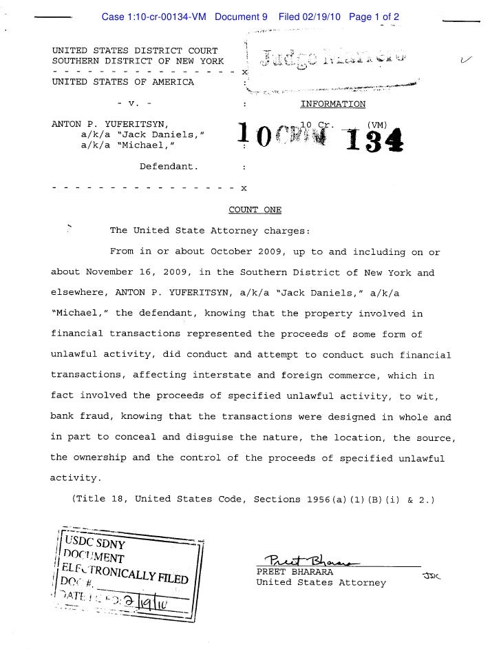 Case 1:10-cr-00134-VM Document 9   Filed 02/19/10 Page 1 of 2