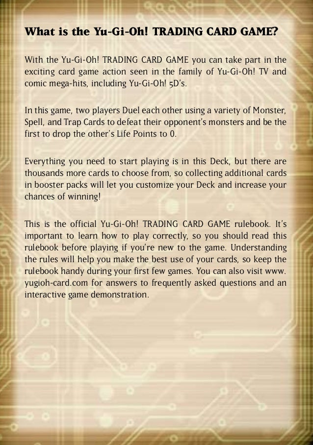 Yu Gi Oh 5ds Official Rulebook