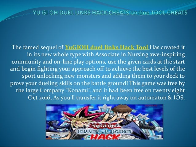 Yu gi oh duel links hack cheats on line tool cheats