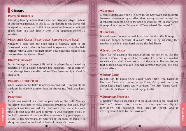 Yu-gi-oh Zexal Official Rulebook