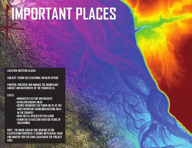 IMPORTANT PLACES  LOCATION: WESTERN ALASKA  SUBJECT: YUKON DELTA NATIONAL WILDLIFE REFUGE  PURPOSE: PRESERVE AND MANAGE TH...