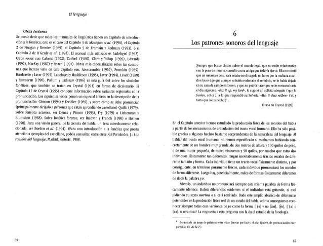 El lenguaje Otras lecturas sc puede decir que todos los manuales de lingüística tienen un capítulo de introduc- ción ala f...
