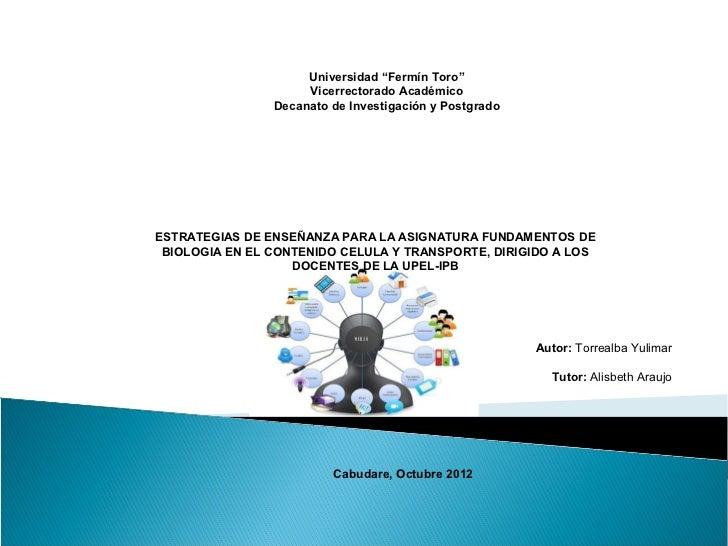 """Universidad """"Fermín Toro""""                     Vicerrectorado Académico                Decanato de Investigación y Postgrad..."""