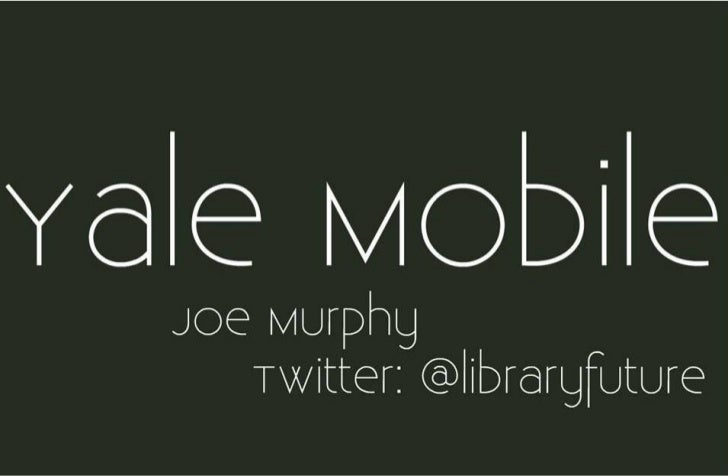 Mobile Technologies & Libraries