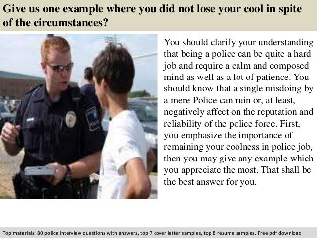 police interview tips