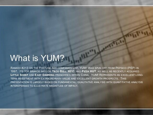 yum brands case study analysis