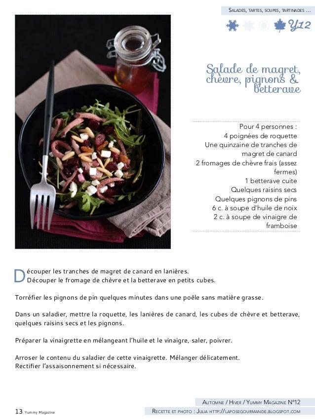 15 Yummy Magazine Salades, tartes, soupes, tartinades …