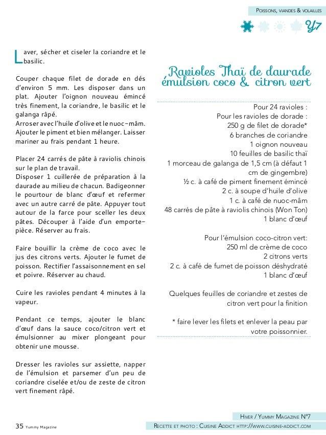 Carpaccio de noix de Saint-Jacques aux topinambours & pomme verte Préparer le carpaccio de noix de Saint- Jacques : couper...