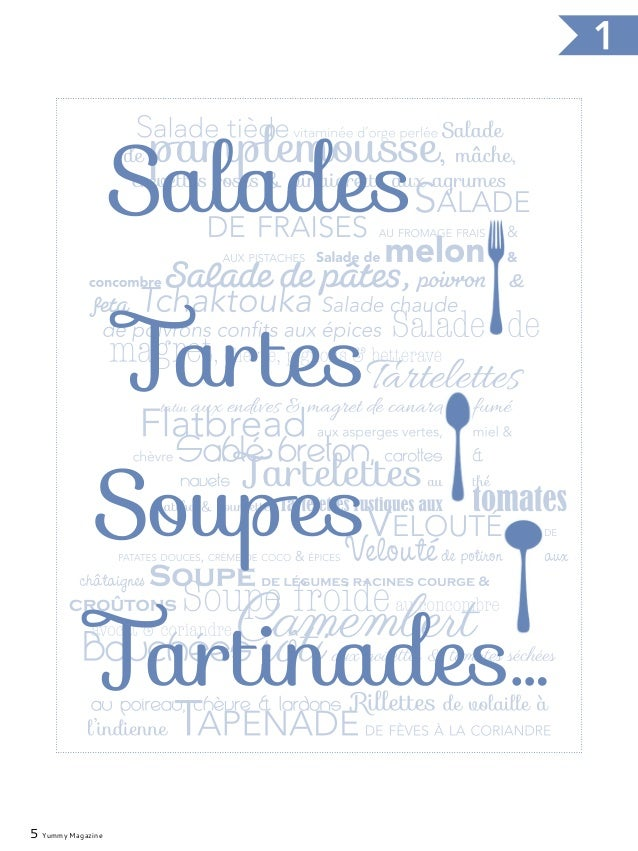 7 Yummy Magazine Salades, tartes, soupes, tartinades …