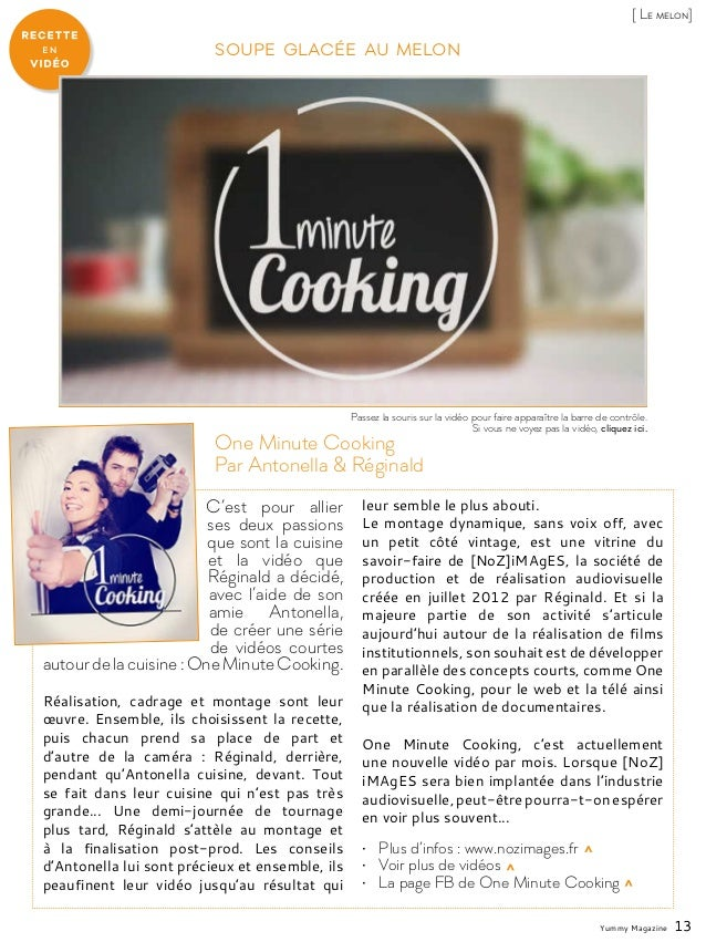 C'est pour allier ses deux passions que sont la cuisine et la vidéo que Réginald a décidé, avec l'aide de son amie Antonel...