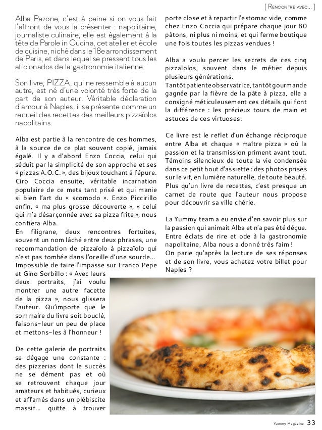 Yummy Magazine 33 [ Rencontre avec... ] Alba Pezone, c'est à peine si on vous fait l'affront de vous la présenter : napoli...