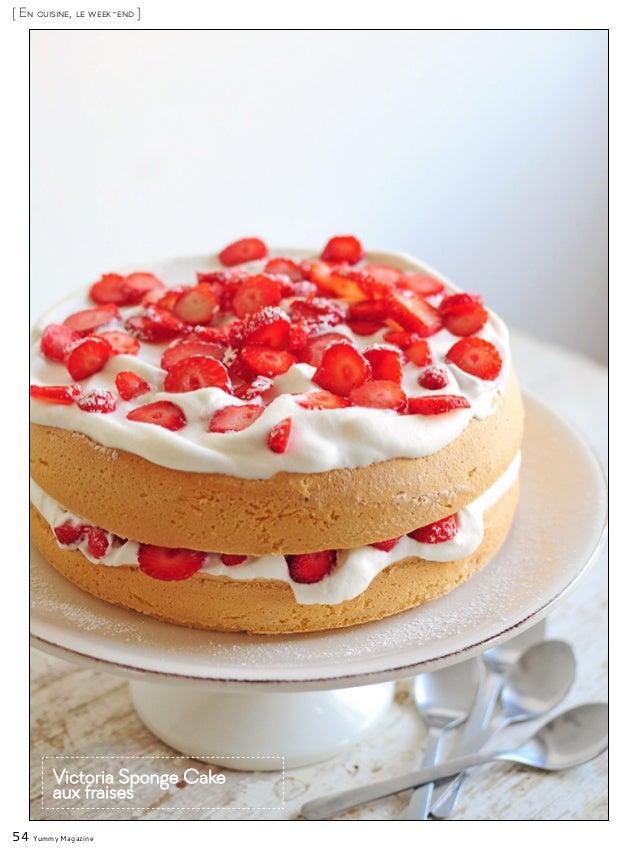 54 Yummy Magazine [ En cuisine, le week-end ] Victoria Sponge Cake aux fraises