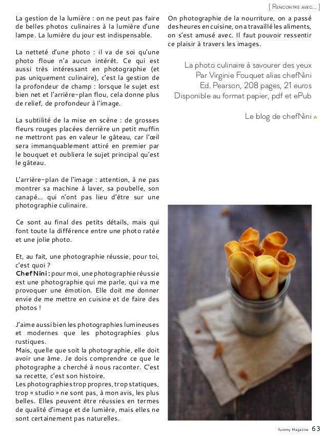 Yummy Magazine 63 [ Rencontre avec... ] La gestion de la lumière : on ne peut pas faire de belles photos culinaires à la l...