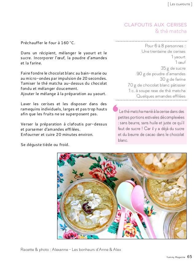 Lethématchamariéàlacerisedansdes petites portions estivales décomplexées : sans beurre, sans huile et juste ce qu'il faut ...