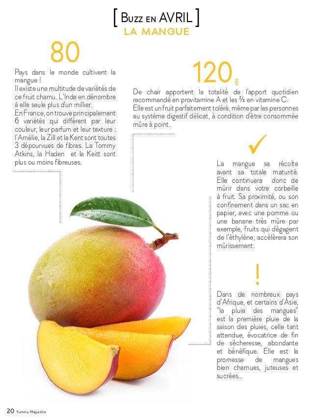 20 Yummy Magazine la mangue [Buzz en AVRIL ] Pays dans le monde cultivent la mangue ! Il existe une multitude de variétés ...