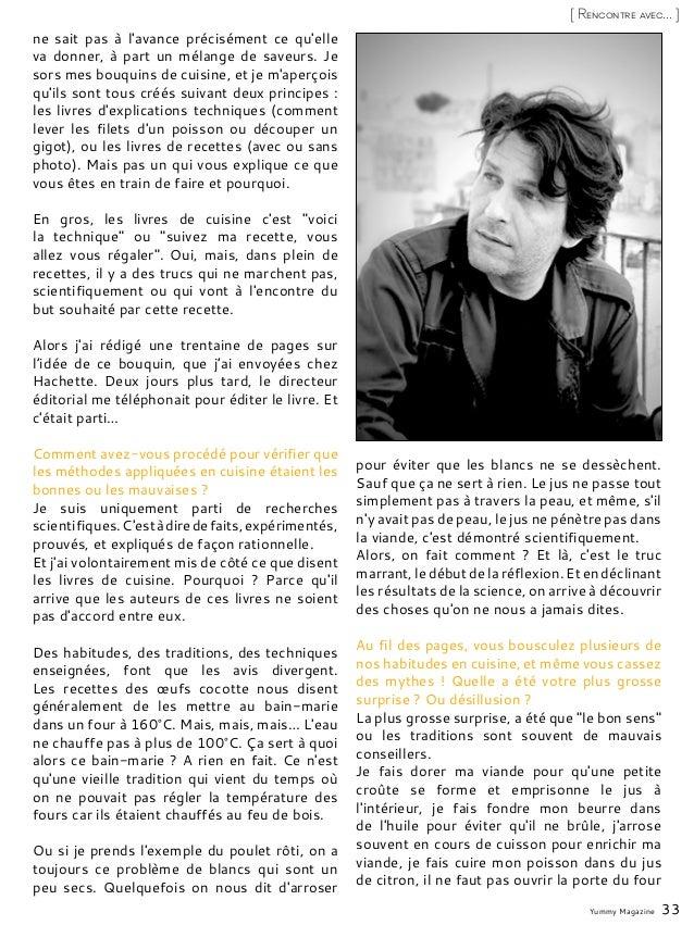 Yummy Magazine 33 [ Rencontre avec... ] ne sait pas à l'avance précisément ce qu'elle va donner, à part un mélange de save...