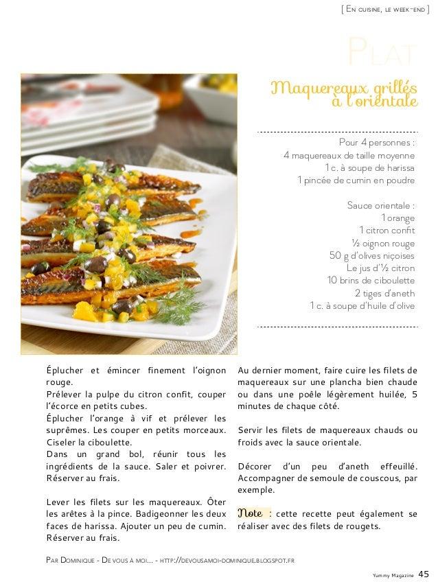 Yummy Magazine 45 [ En cuisine, le week-end ] Par Dominique - De vous à moi... - http://devousamoi-dominique.blogspot.fr P...