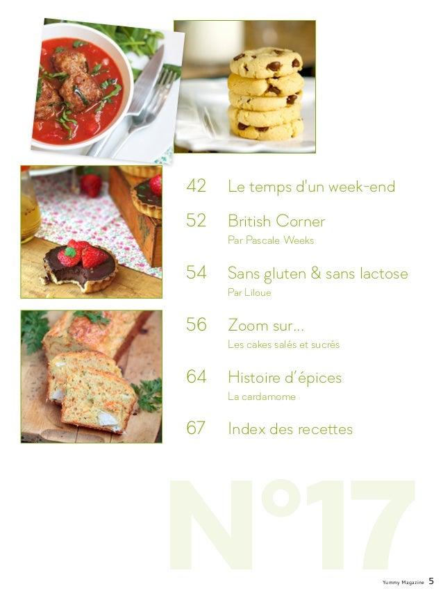 N°17 42  Le temps d'un week-end 52  British Corner  Par Pascale Weeks 54  Sans gluten & sans lactose Par Liloue 56 ...
