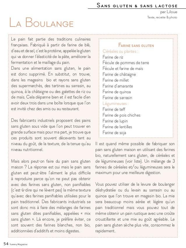 Sans gluten & sans lactose par Liloue 54 Yummy Magazine La Boulange Le pain fait partie des traditions culinaires français...