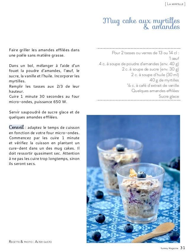 Mug Cake Myrtille Sans Oeuf