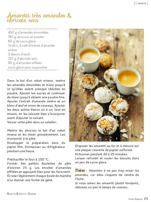 450g d'amandes émondées 180g de sucre en poudre 60g de sucre glace ¼ de c. à café d'extrait d'amande amère 3 blancs d'œ...