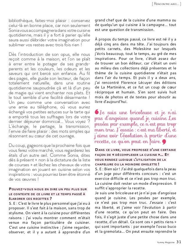 Yummy Magazine 31 [ Rencontre avec... ] bibliothèque, faites-moi plaisir: conservez celui-là en bonne place, car non seul...