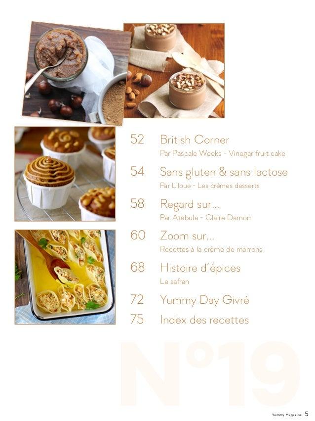 N°19 52  British Corner  Par Pascale Weeks - Vinegar fruit cake 54  Sans gluten & sans lactose  Par Liloue - Les crè...