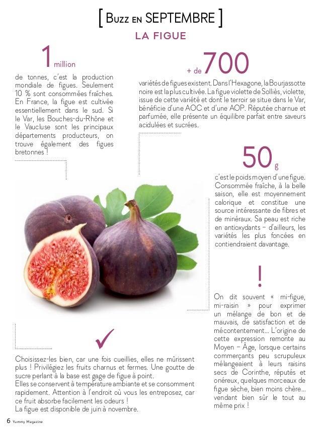 6 Yummy Magazine la figue [Buzz en SEPTEMBRE ] 1million de tonnes, c'est la production mondiale de figues. Seulement 10% ...