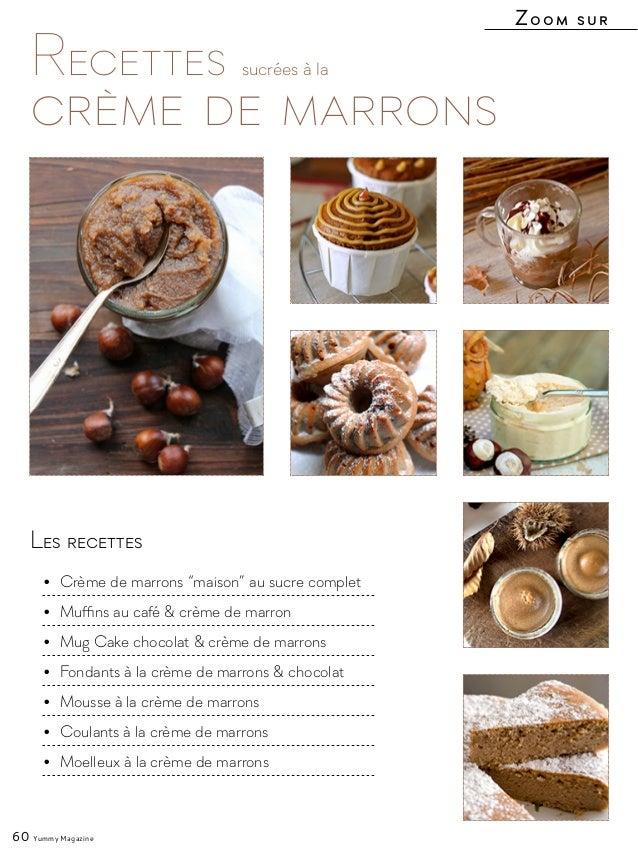 """Les recettes • Crème de marrons """"maison"""" au sucre complet • Muffins au café & crème de marron • Mug Cake chocolat & crè..."""
