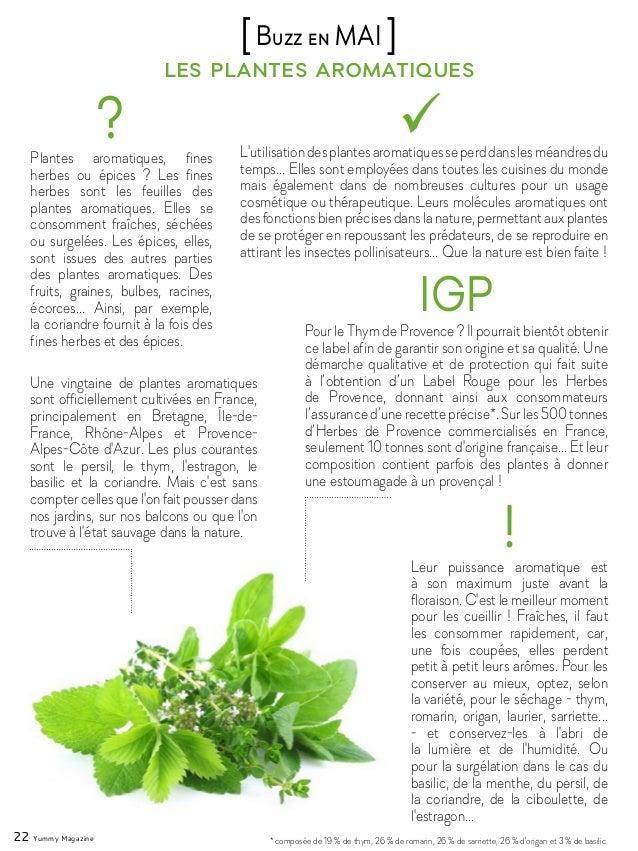 Une vingtaine de plantes aromatiques sont officiellement cultivées en France, principalement en Bretagne, Île-de- France, ...