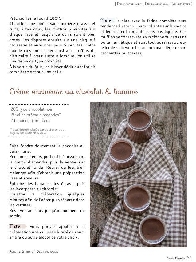 200 g de chocolat noir 20 cl de crème d'amandes* 2 bananes bien mûres * peut être remplacée par de la crème de soja ou de ...