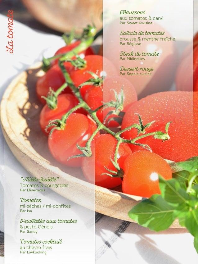 Pour 4 personnes : 1 rouleau de pâte feuilletée, 3 tomates, quelques feuilles de basilic Pour le pesto : 1 gousse d'ail, 1...