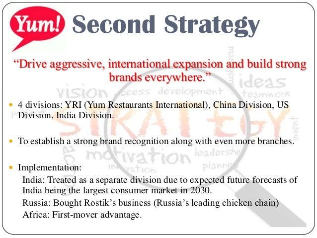 yum brands international strategy