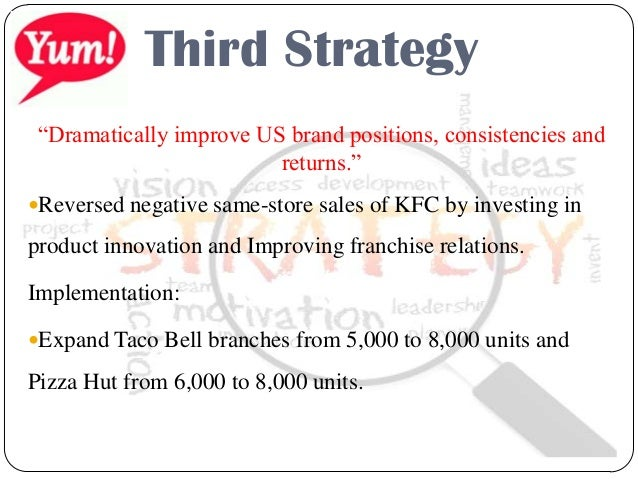 business strategy yum brands Ver vídeo yum brands inc, which opened its first kfc restaurant in china in 1987 and also operates pizza hut outlets, has.