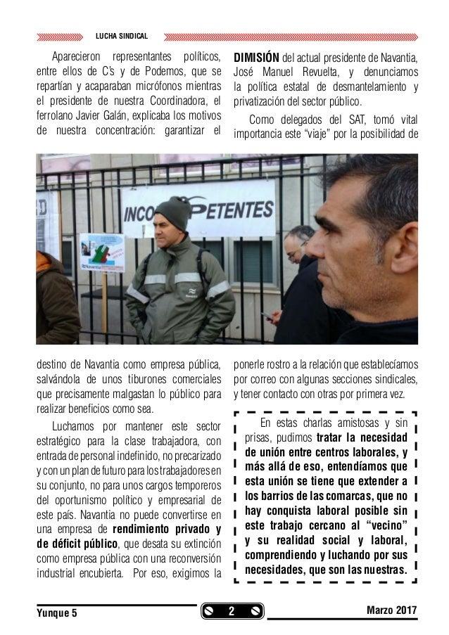 Revista Yunke nº5 Órgano de Expresión de la Sección Sindical del S.A.T. en Navantia San Fernando. La Carraca-S.F. Slide 2