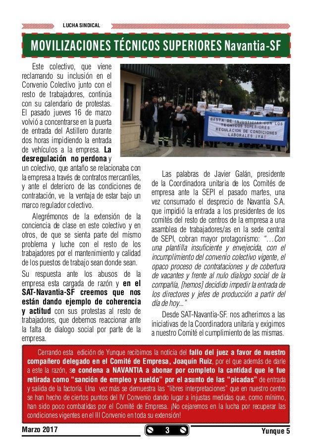 Revista Yunke nº5 Órgano de Expresión de la Sección Sindical del S.A.T. en Navantia San Fernando. La Carraca-S.F. Slide 3