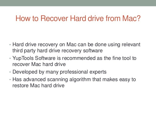how to recover files from mac hard drive