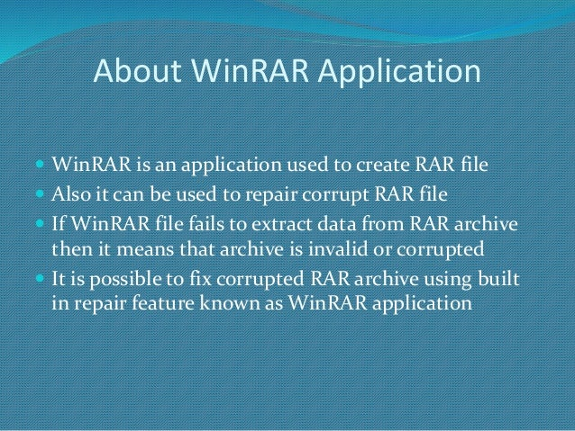 Repair RAR File