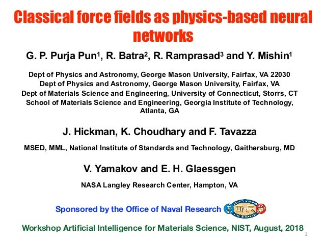 Classical force fields as physics-based neural networks