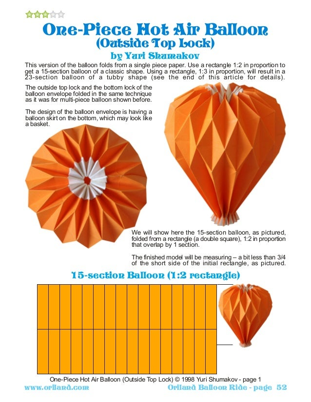 origami hot air balloon instructions tutorial origami
