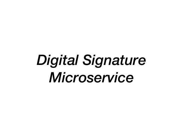 Digital Signature Microservice