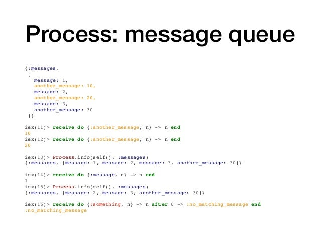 Process: message queue {:messages, [ message: 1, another_message: 10, message: 2, another_message: 20, message: 3, another...