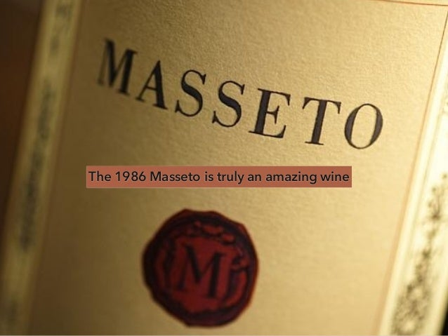 The 1986 Masseto is truly an amazing wine