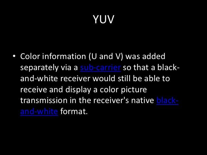 YUV, Y CB CR and Subsampling