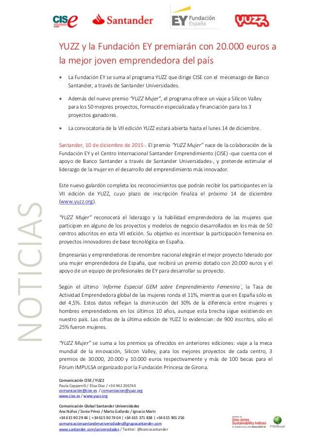 Comunicación CISE / YUZZ Paula Capparelli / Elisa Díaz / +34 942 206744 comunicación@cise.es / comunicacion@yuzz.org www.c...