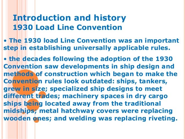 International Convention on Load Lines