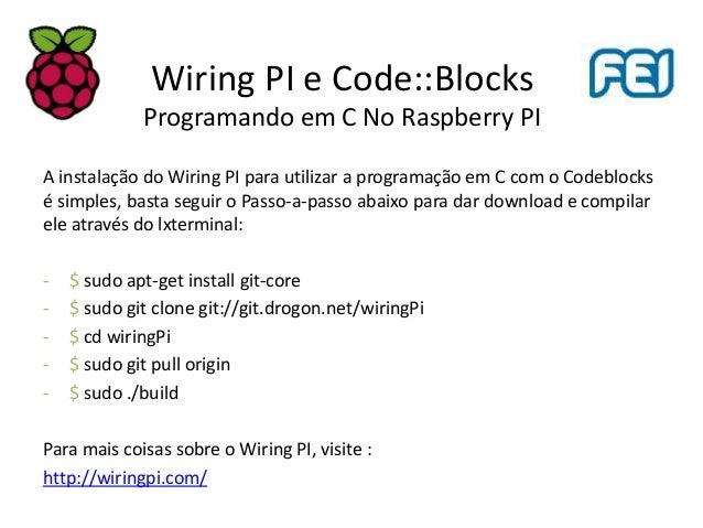 no es b sicas do raspberry pi 2 3 na pr tica rh slideshare net  wiringpi php sudo