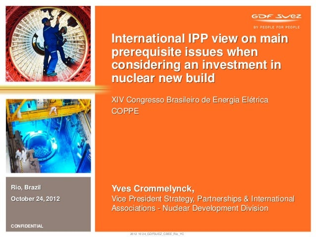 International IPP view on main                   prerequisite issues when                   considering an investment in  ...